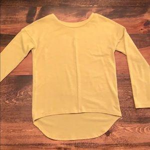 Girls mustard yellow shirt